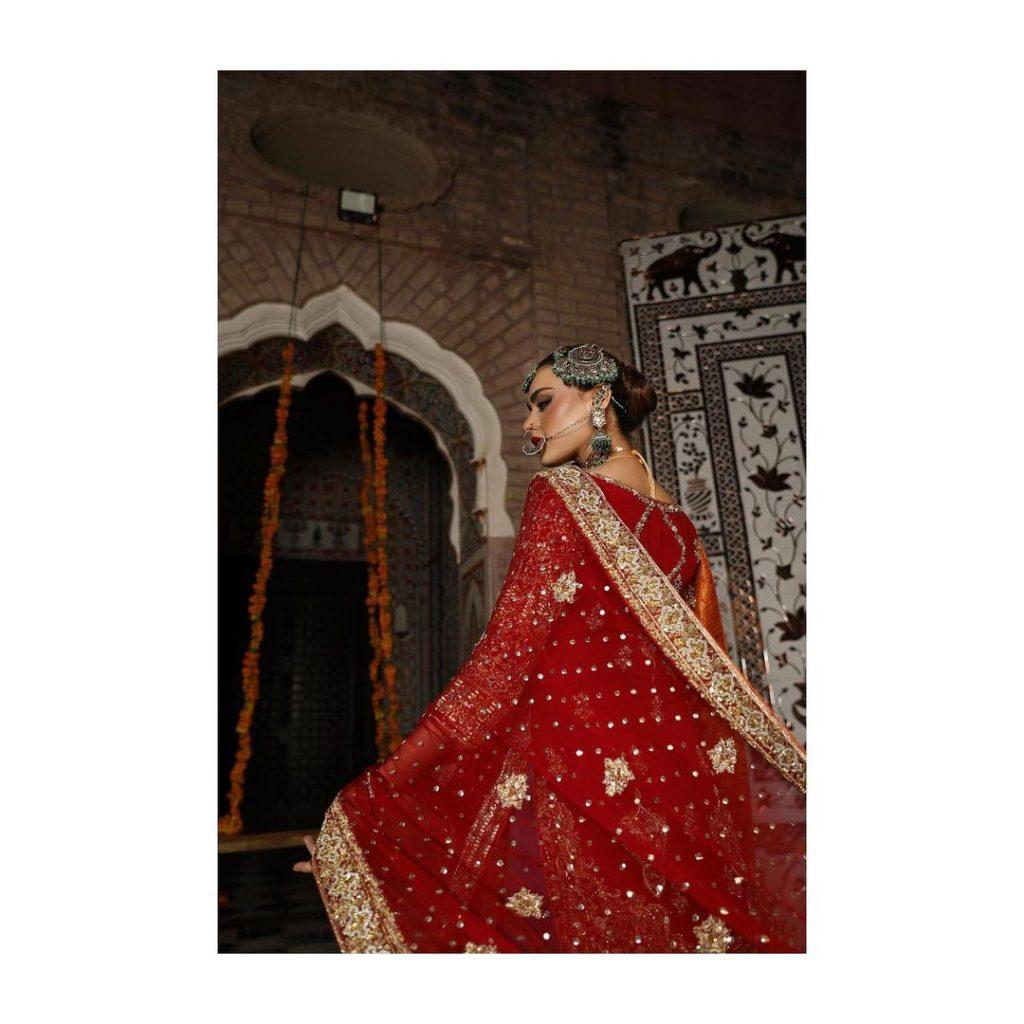 Arooj Aziz's Bridal Collection Gulbadan Featuring Sadaf Kanwal