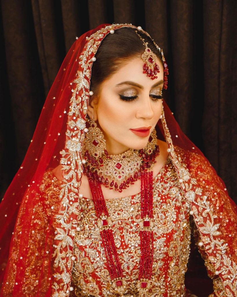 Sadia Faisal Is Every Bride's Dream In A Red Bridal Ensemble