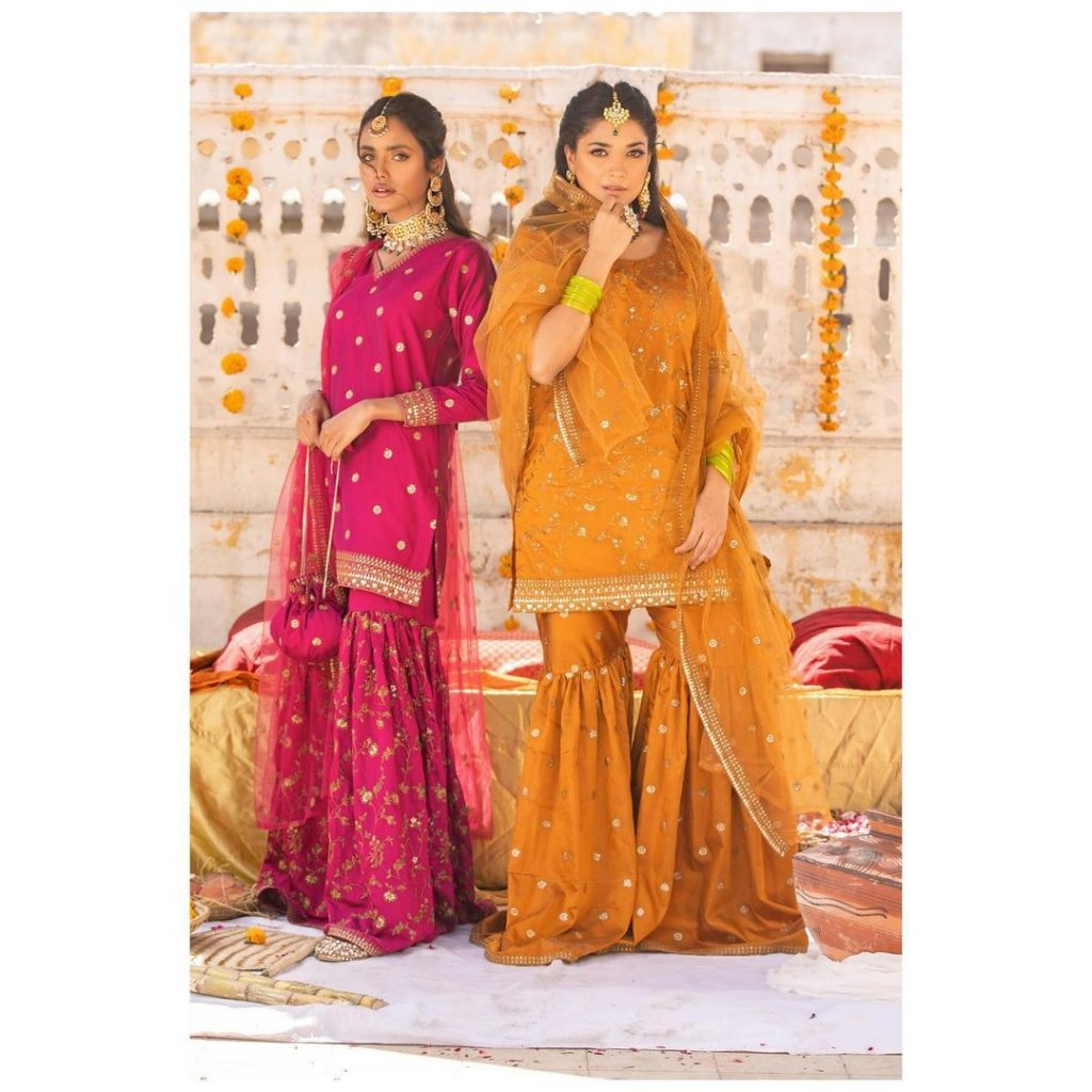 """Anum Jung Luxury Formal Collection """"Noor"""" Featuring Sanam Jung"""
