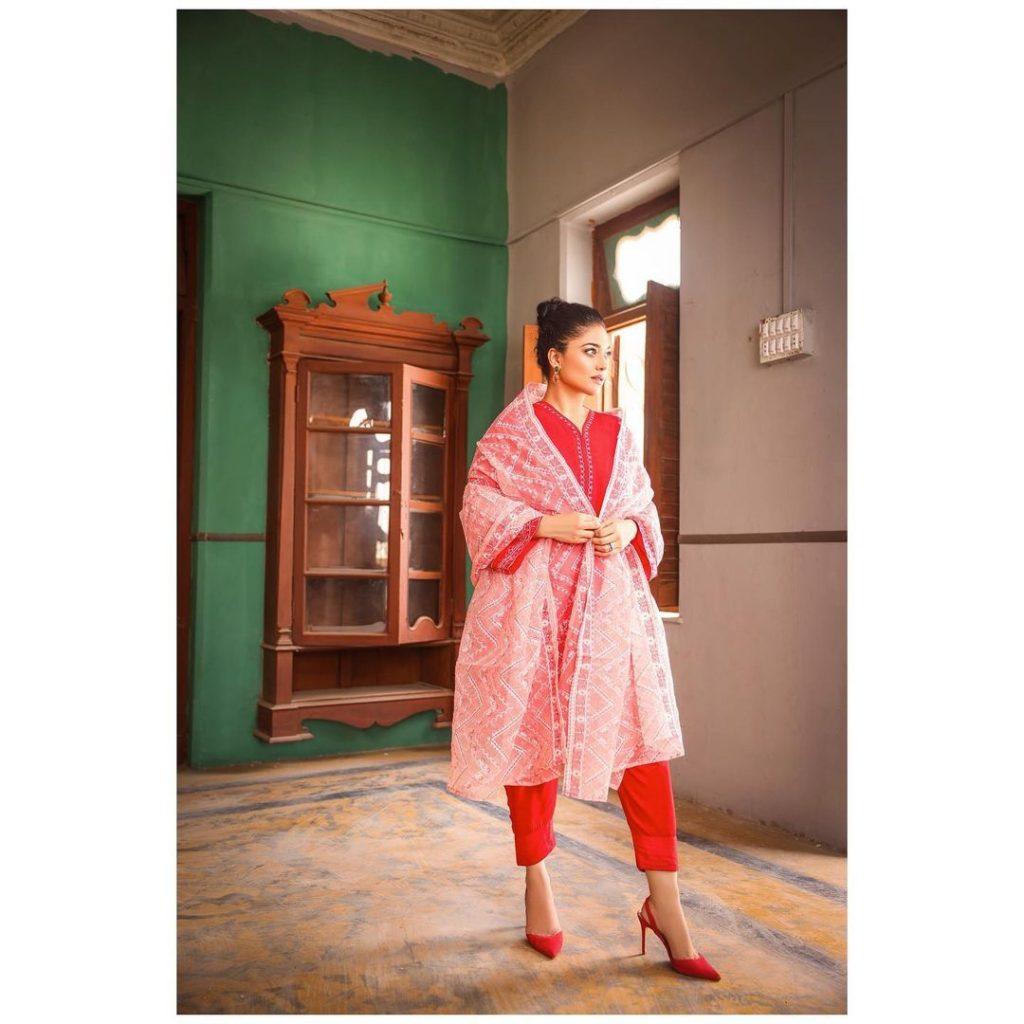 Anum Jung Eid Collection 2021 Featuring Sanam Jung