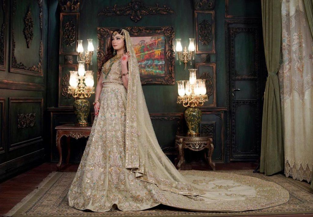 Shameen Khan Looking Radiant In Bridal Wear By Erum Khan Couture