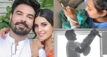 Iqra and Yasir Share The Feeling Of Holding The First Baby