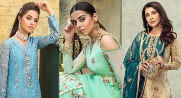Asim Jofa's Latest Chiffon Collection Featuring Famous Pakistani Celebrities