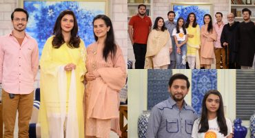 Senior Pakistani Celebrities With Their Kids At The Set Of GMP