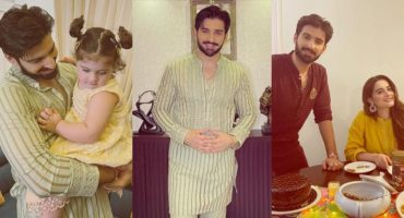 Alluring Eid Pictures Of Muneeb Butt And Aiman Khan With Their Daughter
