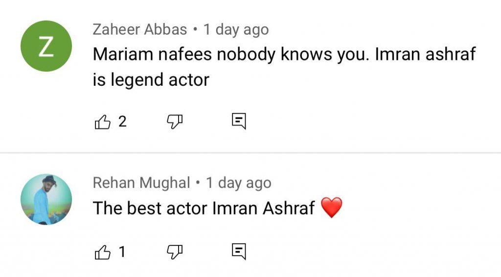 Fans Loved Imran Ashraf's Funny Reply To Mariyam Nafees