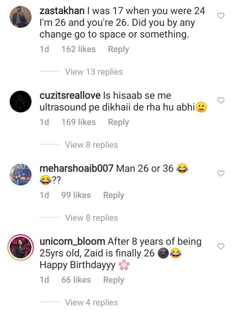 Bilal Abbas Doubts Zaid Ali T Celebrating 26th Birthday