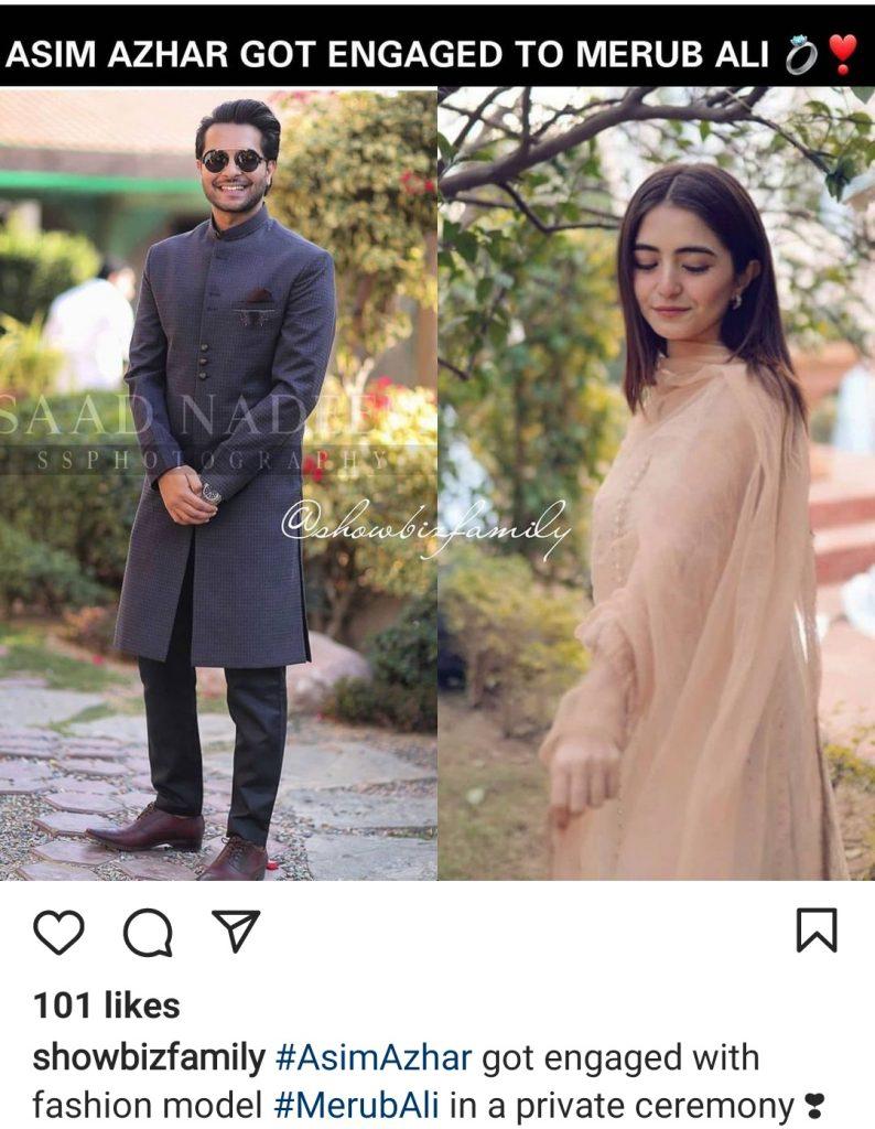 Asim Azhar Reportedly Got Engaged To Merub Ali