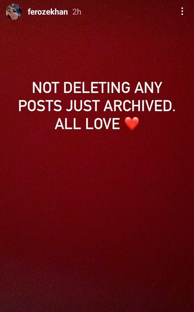 Feroze Khan Deletes All His Instagram Posts