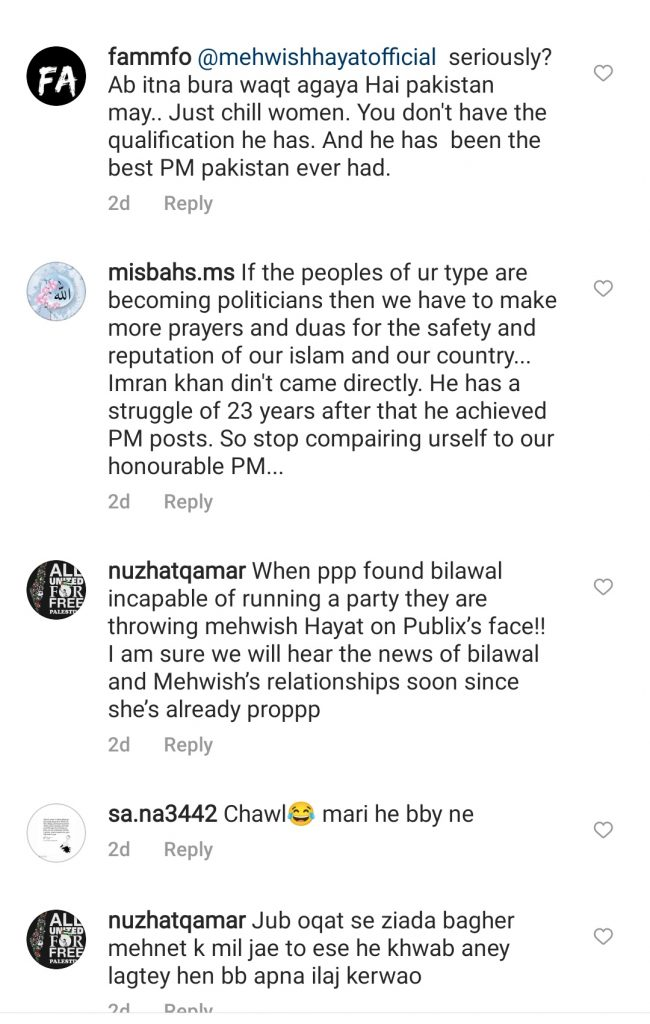 Netizens Criticize Mehwish Hayat For Comparing Herself To PM Imran Khan