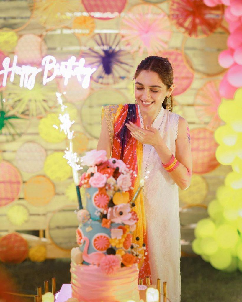 Maya Ali Solo Clicks From Her Holi Themed Birthday Bash