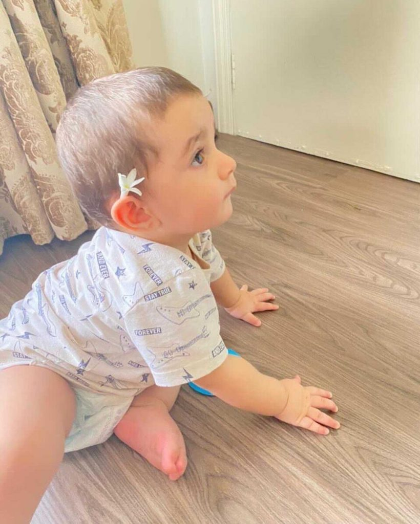 Naimal & Family Share Adorable Pictures Of Mustafa Abbasi