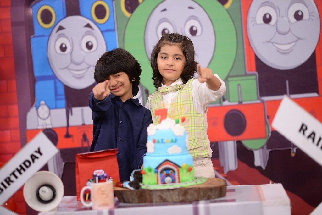 Nida Yasir Celebrates Her Son Balaaj's Birthday At The Set Of GMP