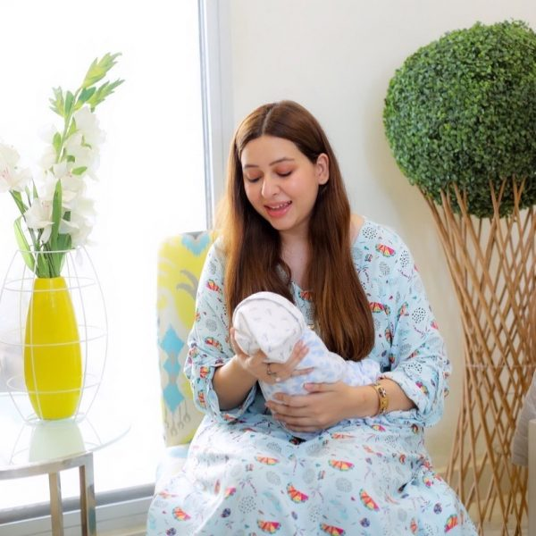 Adorable Pictures Of Rabia Anum With Her Newborn