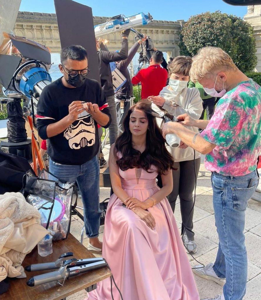 BTS Pictures Of Saba Qamar From Her Upcoming Project