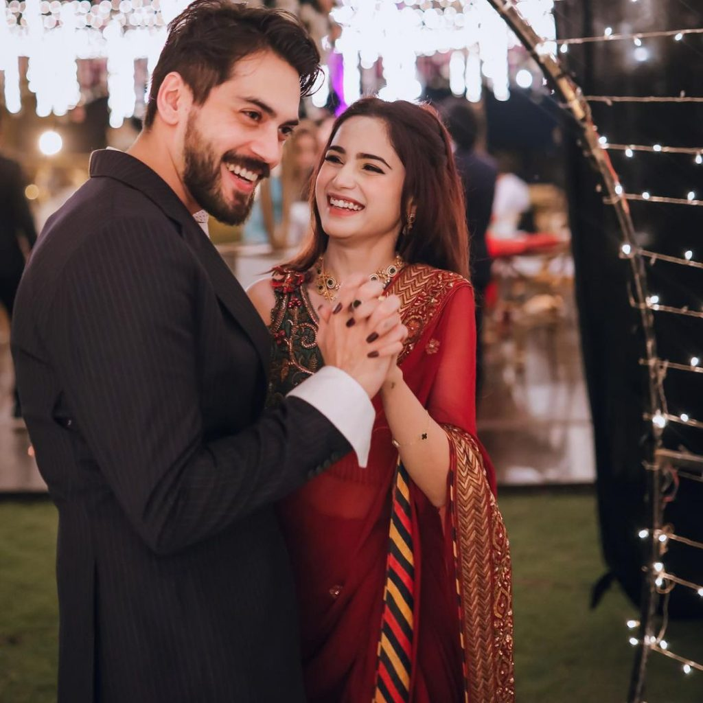 Beautiful Portraits Of Aima Baig And Shahbaz Shigri From Her Sister's Wedding