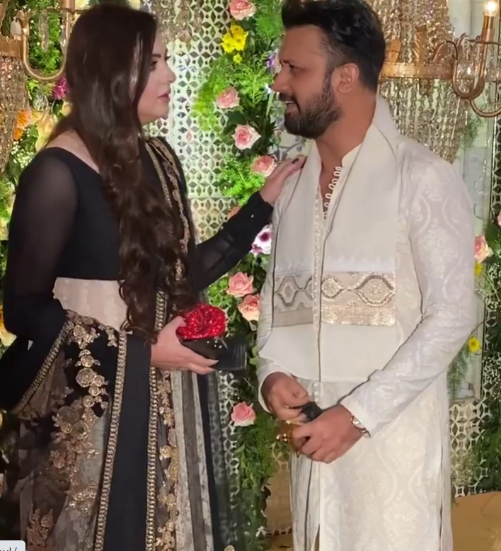 Atif Aslam Spotted With His Wife At A Wedding In Lahore