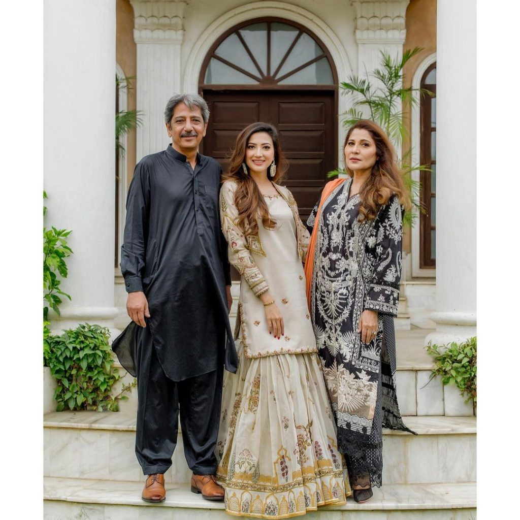 Aymen Saleem Shares Adorable Eid Pictures With Her Parents