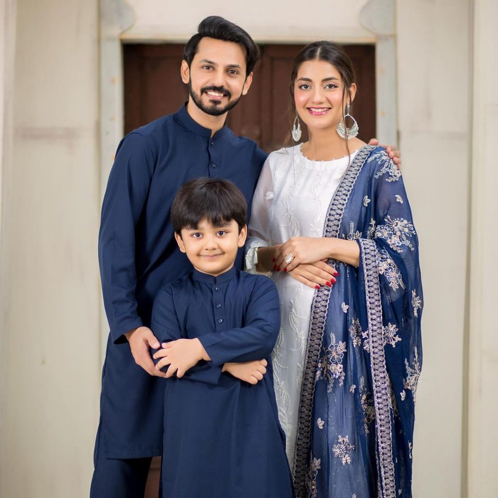 Adorable Family Portraits Of Bilal Qureshi And Uroosa Bilal From Eid-ul-Adha Day 1