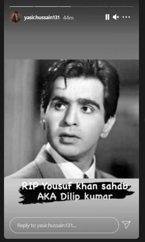 Pakistani Celebrities Mourn The Death Of Dilip Kumar