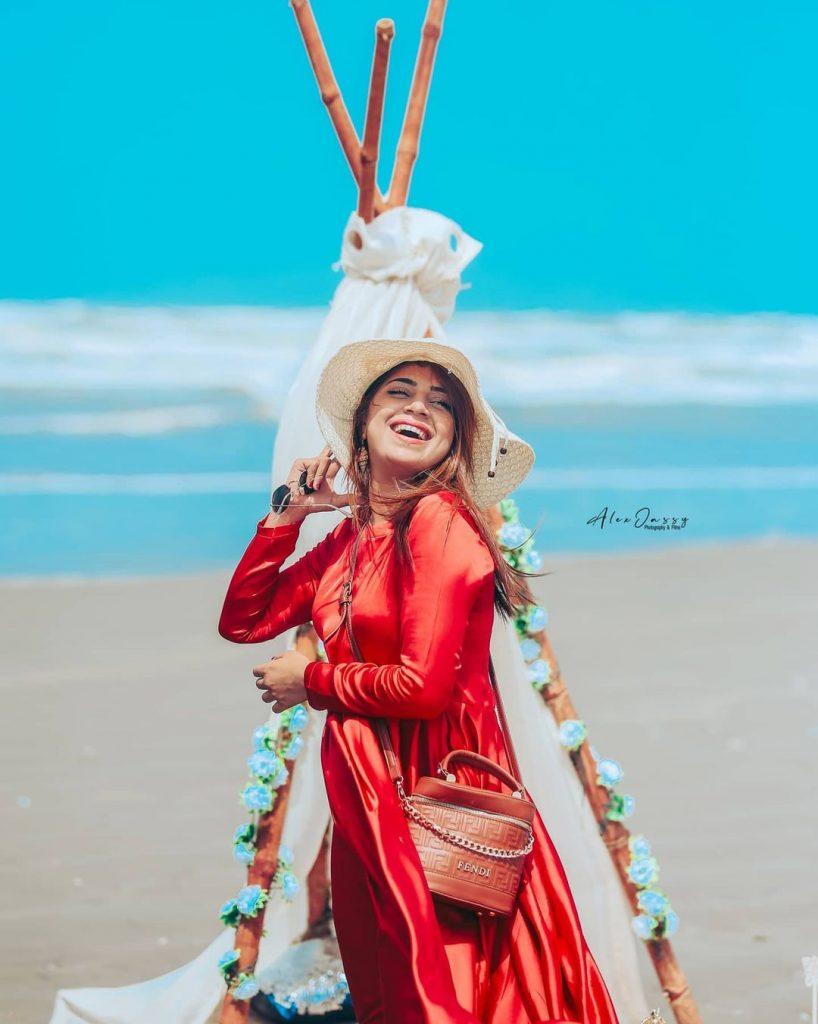 TikTok Star Dr Madiha Khan's Adorable Birthday Shoot At Beach