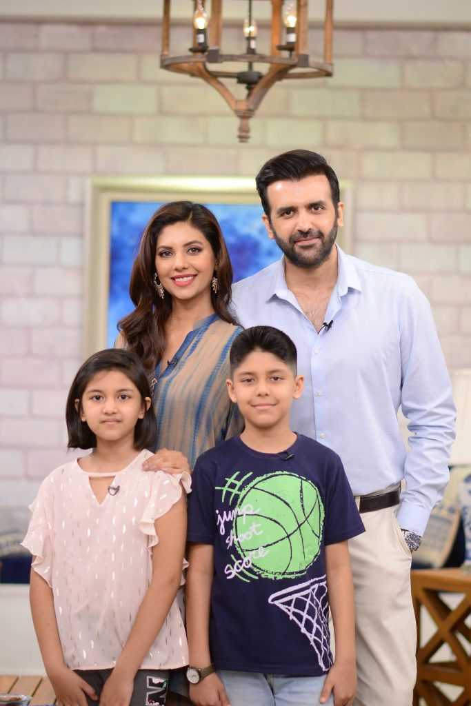 Beautiful Pictures Of Hassan Ahmed And His Family From The Set Of GMP
