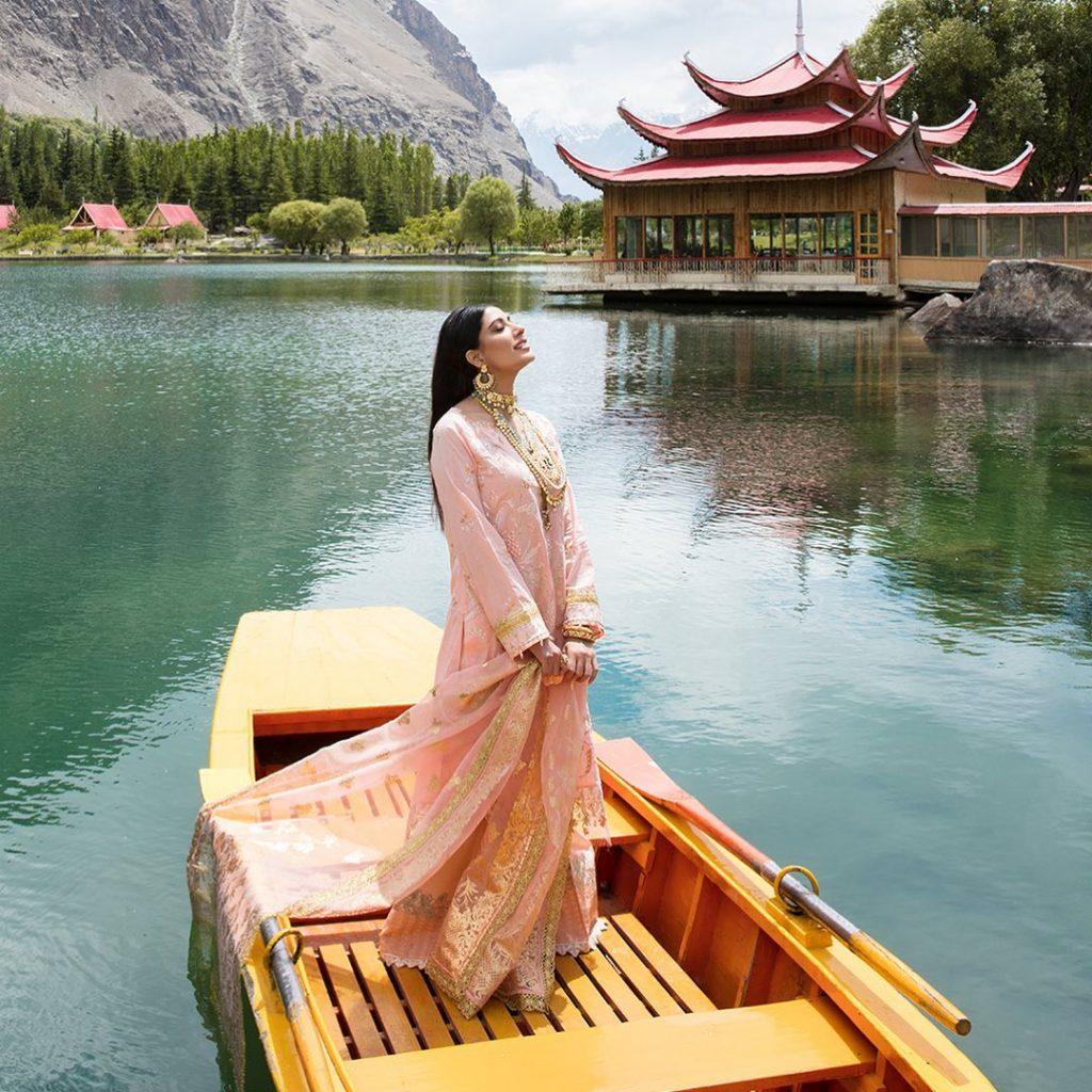 Nisa Hussain's Luxury Festive Lawn Collection Featuring Mehwish Hayat