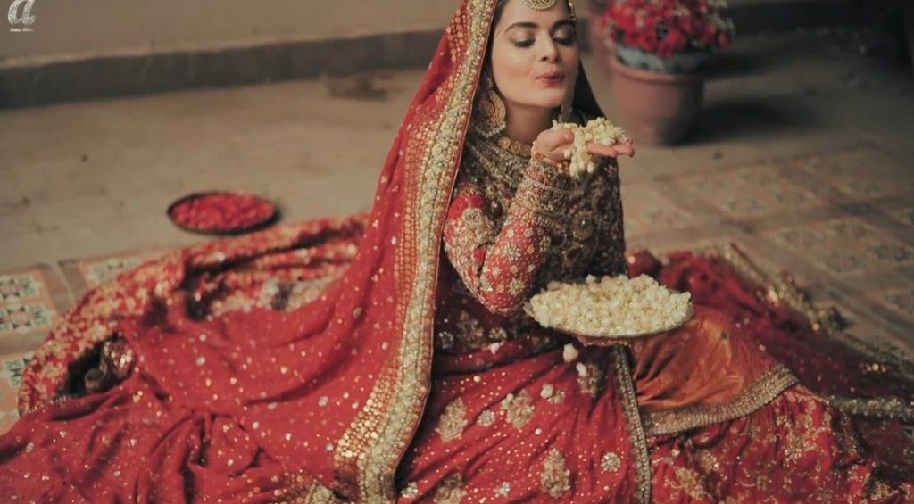 Annus Abrar Bridal Edit Maahru Featuring Minal Khan