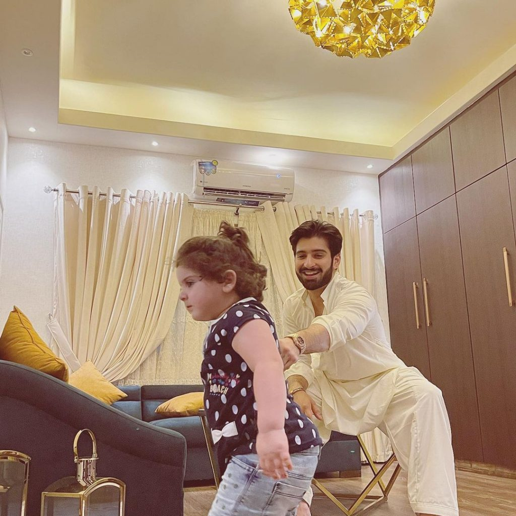Muneeb Butt Adorable Eid Pictures With Amal