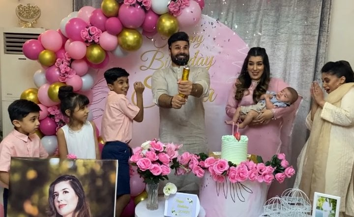 Rahim Pardesi Throws A Surprise Birthday Party For Second Wife