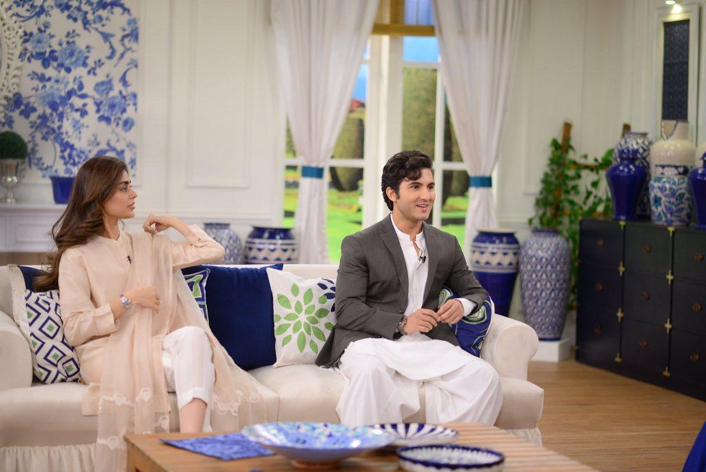 Sadaf Kanwal And Shahroz Sabzwari At The Set Of GMP