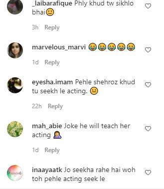 Public's Hilarious Take On Sadaf Kanwal Learning Acting From Shahroz Sabzwari