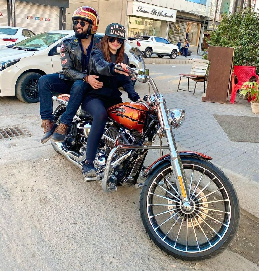 Adorable Pictures Of Sana Javed And Umair Jaswal