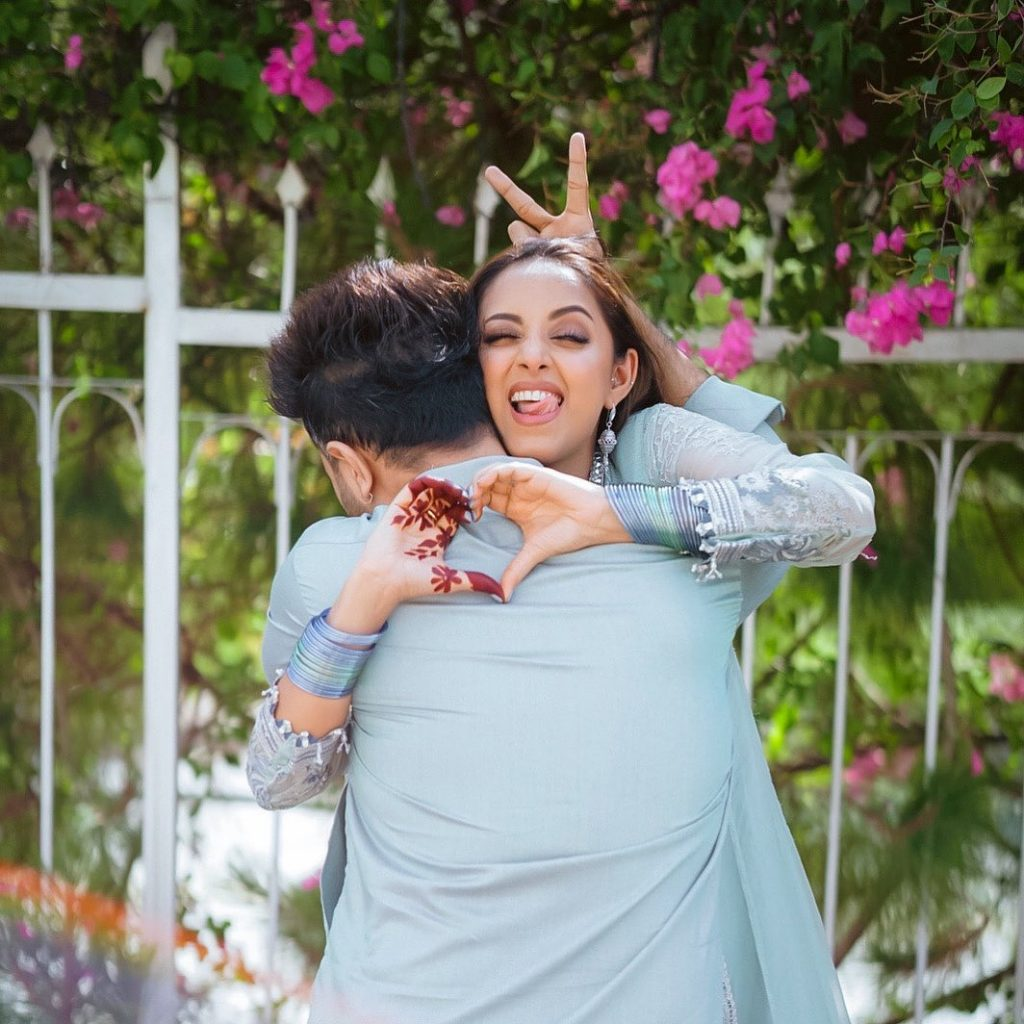 Sanam Chauhdry's Loved-up Eid Pictures With Husband