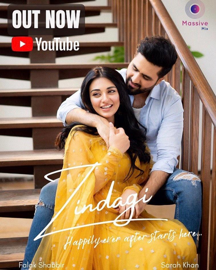Falak Shabir's Latest Romantic Song Zindagi Featuring Sarah Khan Is Out Now