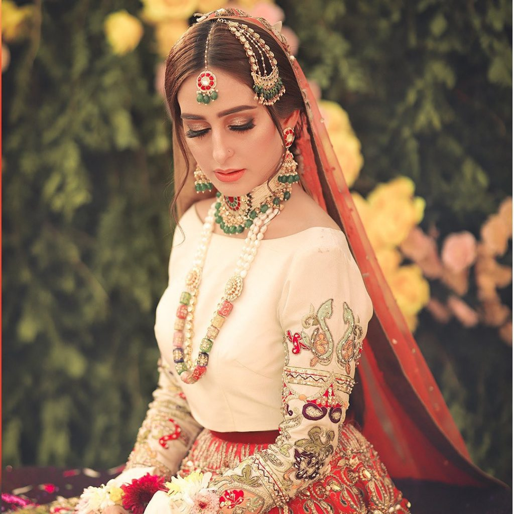 Sidra Niazi Dolled Up As A Traditional Bride In Her Recent Shoot