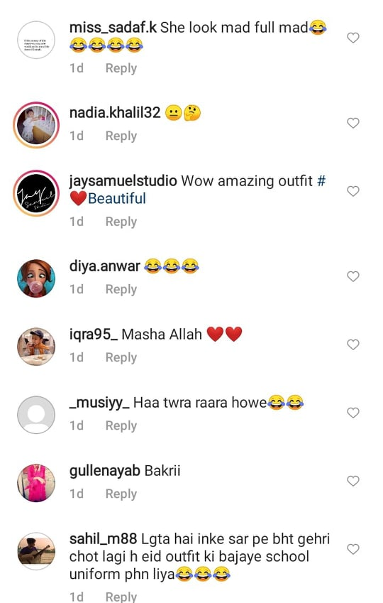Netizens React To Sonya Hussyn's Look From Eid-Ul-Adha Day 1