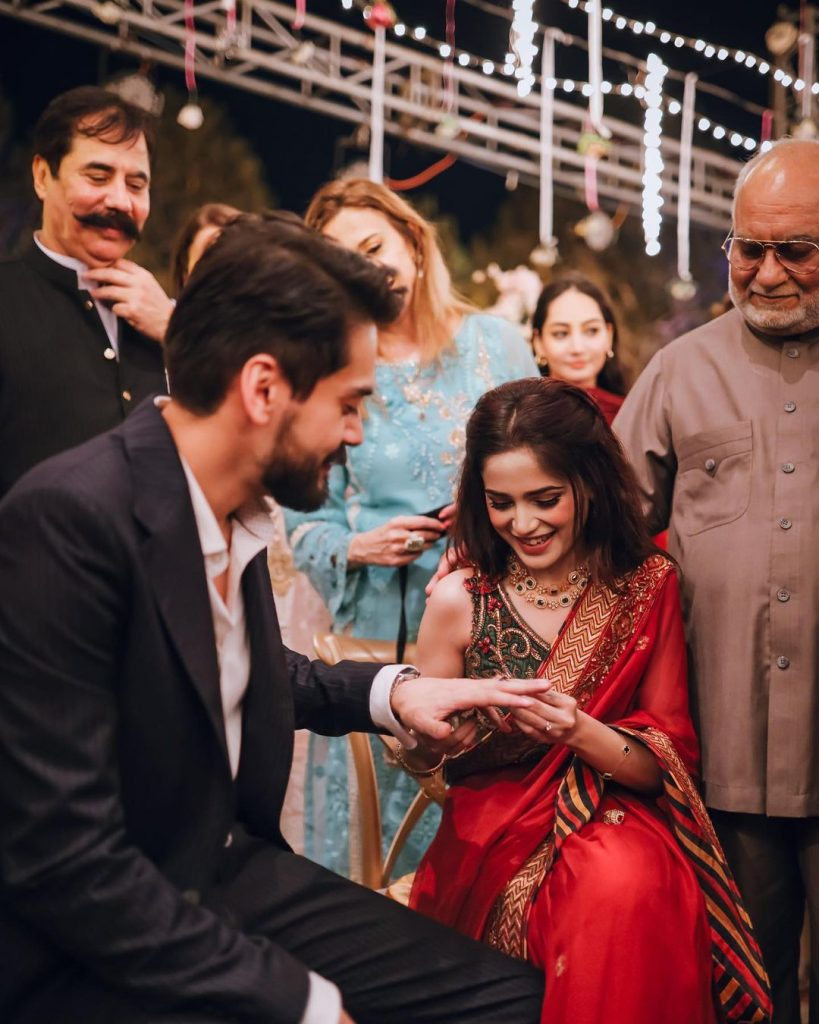 Unseen Pictures From Aima Baig's Engagement Ceremony