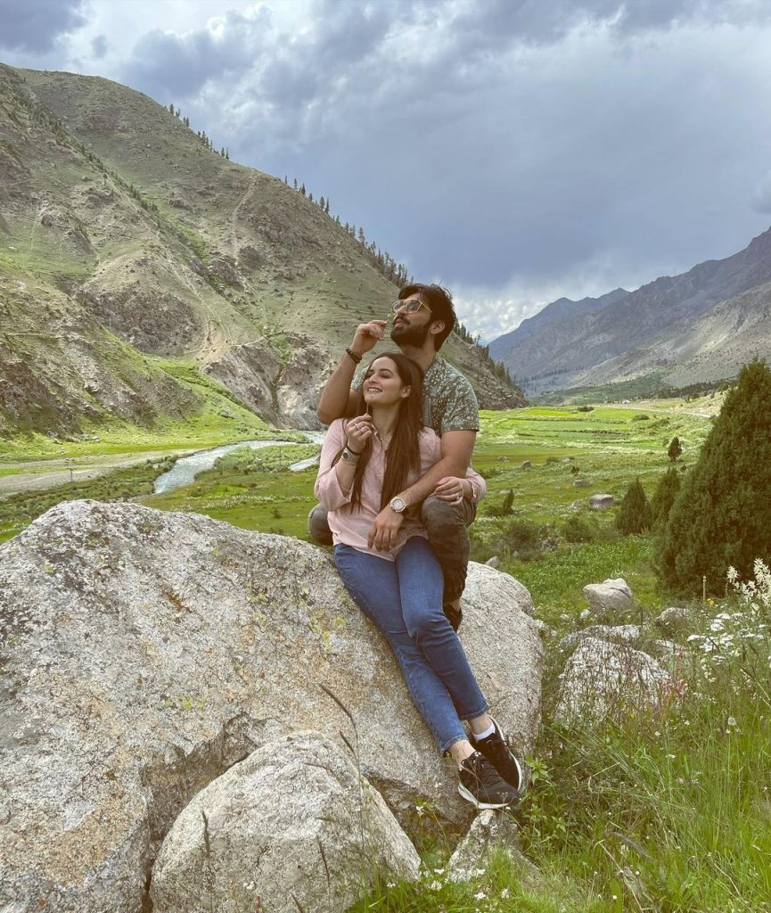 Recent Beautiful Pictures Of Aiman Khan And Muneeb Butt From Skardu