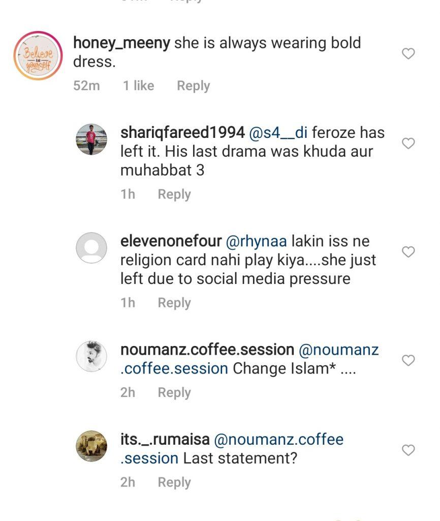 Netizens Compare Aymen Saleem With Feroze & Hamza On Her Recent Statement
