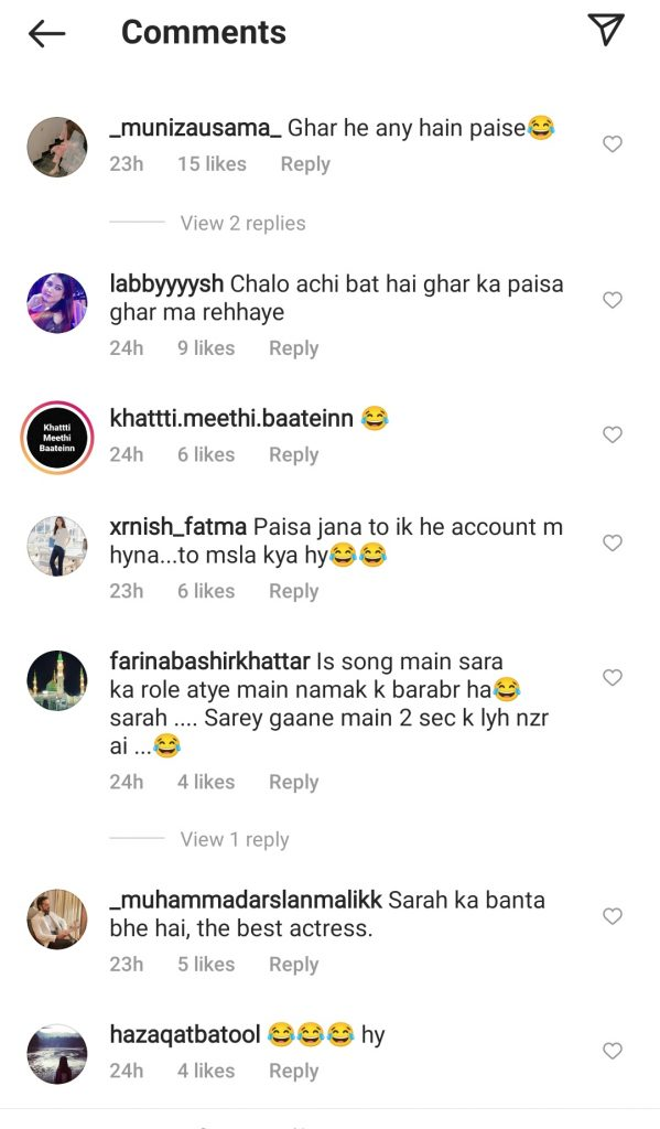 Fans Coming Up With Funny Comments On Falak Paying Sarah For Modelling