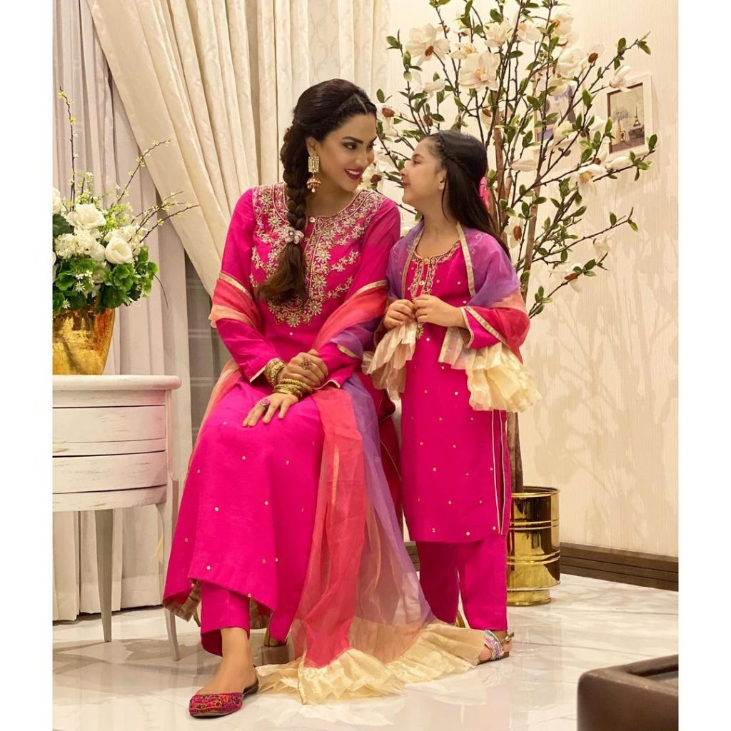 Adorable Pictures Of Fiza Ali With Her Daughter Faraal