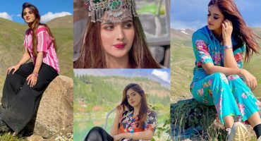 Jannat Mirza And Alishbah Anjum Beautiful Pictures From Northern Areas