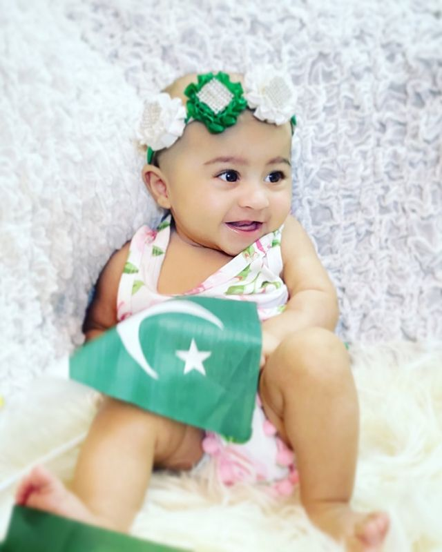 Latest Adorable Pictures Of Hassan Ali's Daughter Helena