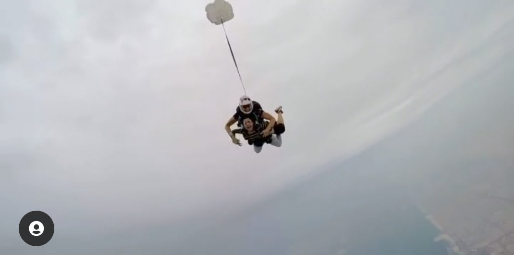 Mahi Baloch Treats Fans With Her Skydiving Video From Dubai