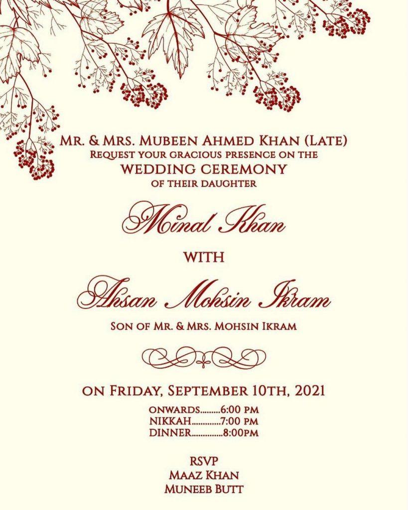 Wedding Festivities Of Minal Khan And Ahsan Mohsin Ikram To Begin Soon