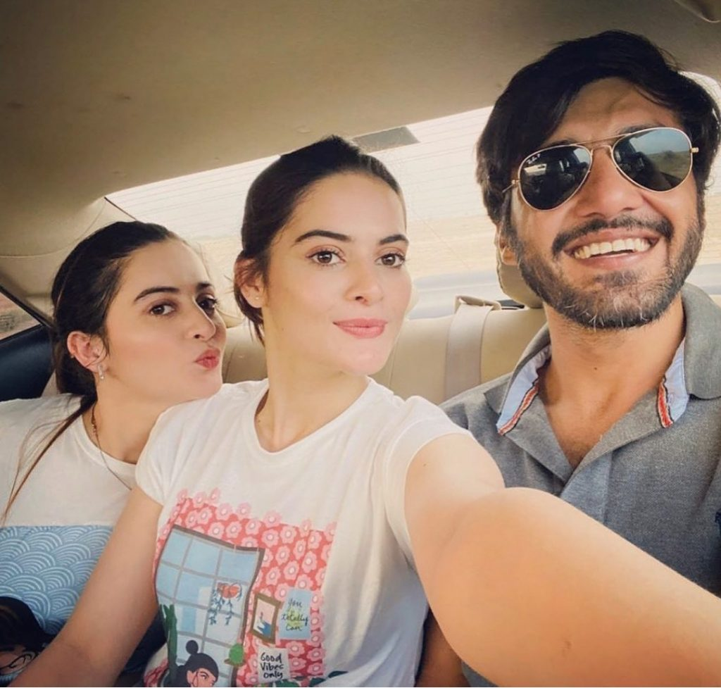 Minal Khan & Ahsan Mohsin Ikram Adorable Pictures