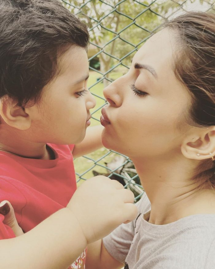 Enchanting Pictures Of Actress Moomal Khalid With Her Son