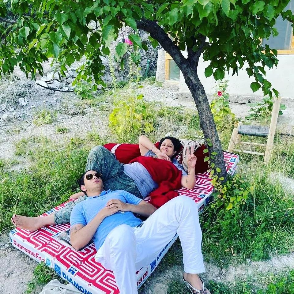 Nadia Jamil Enjoying The Beauty Of Nature At Hunza