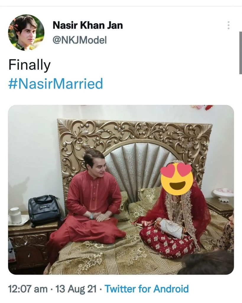 Nasir Khan Jan Gets Married - Gets Mixed Reactions From Public